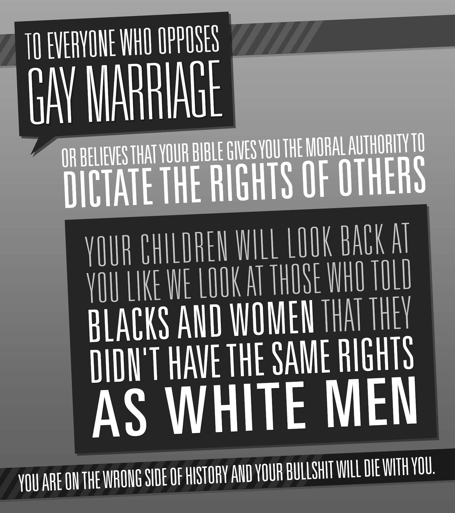 Marriage Equality Atheist Republic Wrong Side Of History