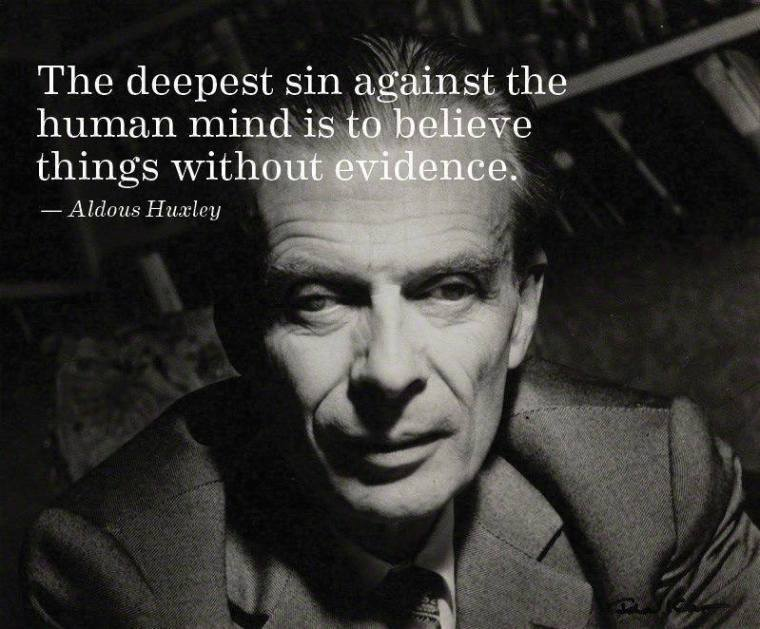 The deepest sin against the human mind