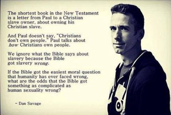 Dan Savage On The Bible and Human Sexuality