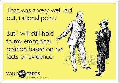 Rational Point vs. Emotional  Opinion