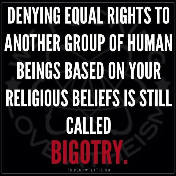Christian Bigotry