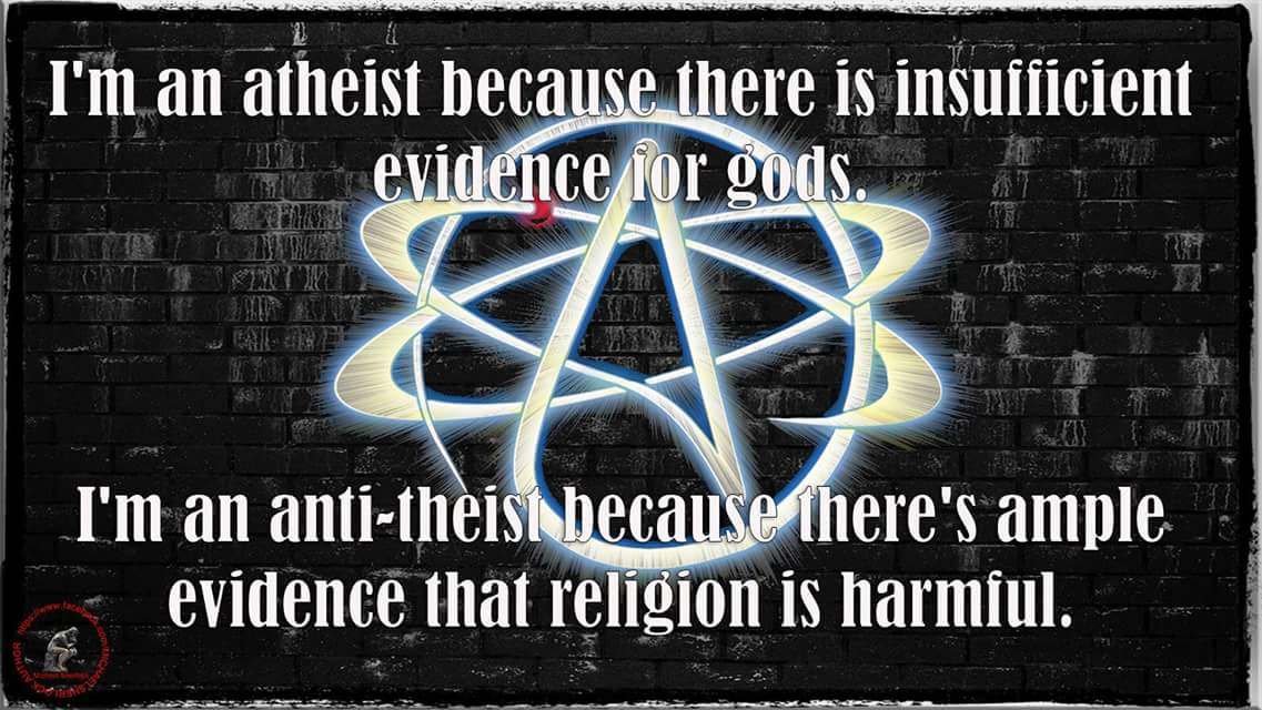 anti theist But anti-theists should be regarded as hateful bigots in exactly the same way one  sees nasty fundamentalists and other far-right ideologists.